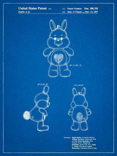 Swift Heart Rabbit Care Bear-Cole Borders-Art Print