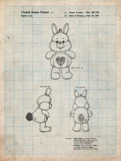 Swift Heart Rabbit Care Bear-Cole Borders-Art Print
