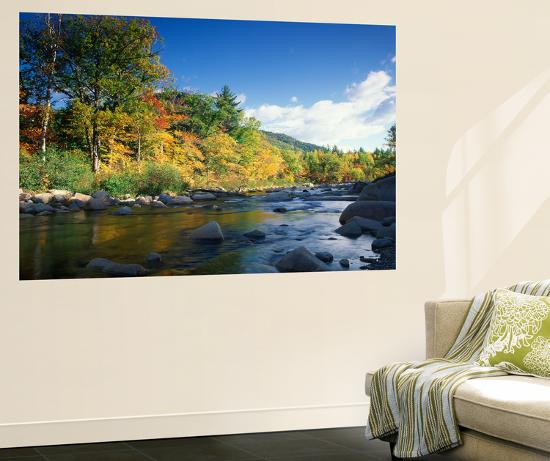 Swift River in Autumn, White Mountains National Forest, New Hampshire, USA-Adam Jones-Wall Mural