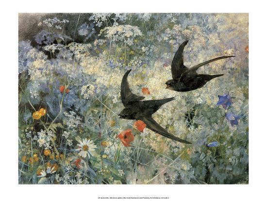 Swifts, 1886-Bruno Liljefors-Art Print