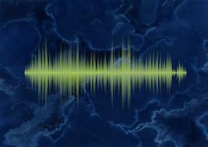 Waveform On The Sea Themed Background by Swill Klitch