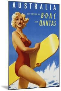 Australia Travel Poster by swim ink 2 llc