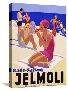 Bade-Saison Jelmoli Poster by swim ink 2 llc