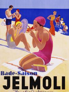 Bade-Saison Jelmoli Poster by swim ink 2 llc