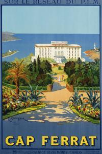 Cap Ferrat Poster by C. Couronneau by swim ink 2 llc