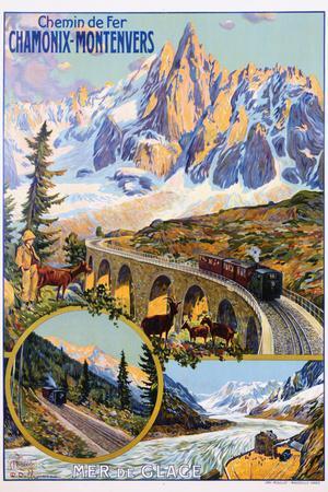 Chamonix-Montenvers Poster by David Dellepiane