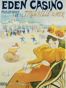 Eden Casino Poster by Henri Guydo by swim ink 2 llc