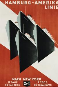 Hamburg-Amerika Linie Poster by Henning Koeke by swim ink 2 llc