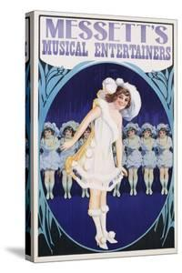 Messett's Musical Entertainers Poster by swim ink 2 llc