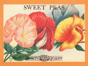 Sweet Peas Flower Seeds Package Label by swim ink 2 llc