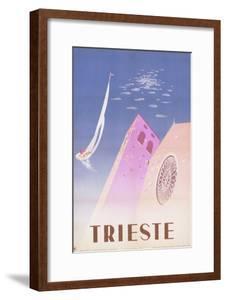Trieste Travel Poster by swim ink 2 llc