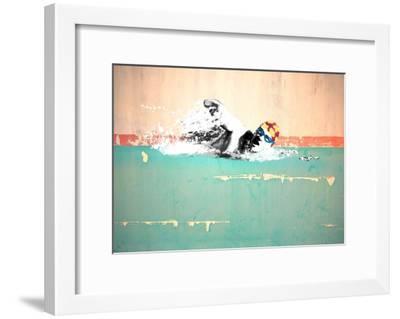 Swim on! Bronx, NYC-Masterfunk collective-Framed Giclee Print
