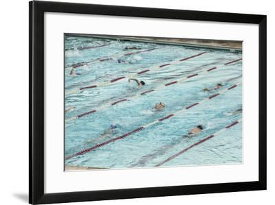 Swim Practice at the Lake Naomi Club-Richard Nowitz-Framed Photographic Print