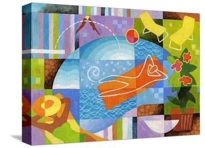 Swim-Jim Dryden-Stretched Canvas Print