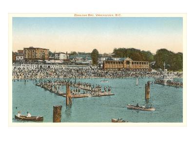 Swimmers at English Bay, Vancouver, British Columbia--Art Print