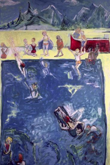 Swimmers in Wengen-Julie Held-Giclee Print