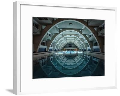 Swimming at Night-Renate Reichert-Framed Art Print