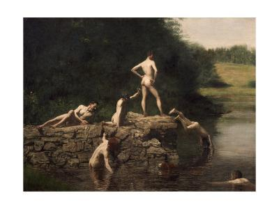 Swimming Hole, 1885-Thomas Cowperthwait Eakins-Giclee Print
