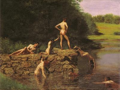Swimming Hole, 1885-Thomas Cowperthwait Eakins-Giclee Print