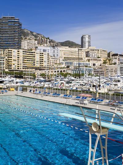 Swimming Pool in La Condamine Area, Monte Carlo, Monaco, Mediterranean, Europe-Richard Cummins-Photographic Print