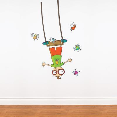 Swing Boy Wall Decal--Wall Decal