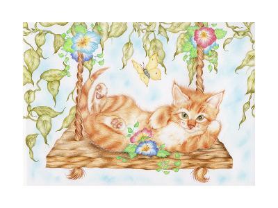 Swing Kitty-Karen Middleton-Giclee Print
