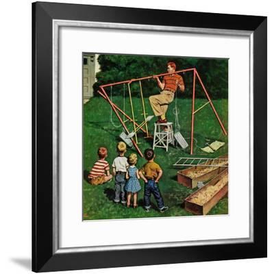 """Swing-set"", June 16, 1956-Amos Sewell-Framed Giclee Print"