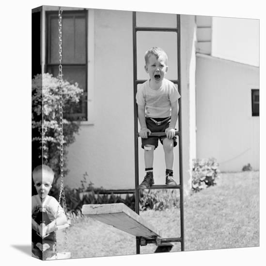 Swing Set Scares-H^ Armstrong Roberts-Stretched Canvas Print