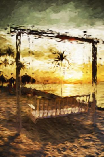 Swinging Chair I - In the Style of Oil Painting-Philippe Hugonnard-Giclee Print