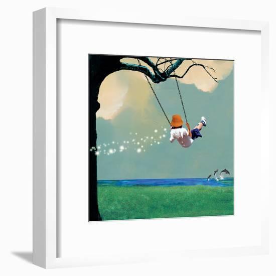 Swinging-Nancy Tillman-Framed Art Print