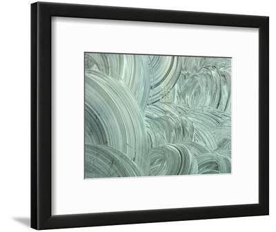 Swirled White Painted Textured Background