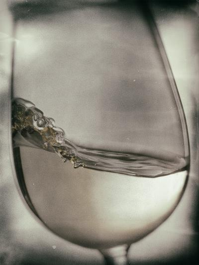 Swirling White Wine-Steve Lupton-Photographic Print