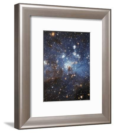 Swirls of Gas and Dust Reside in This Ethereal-Looking Region of Star Formation-Stocktrek Images-Framed Photographic Print
