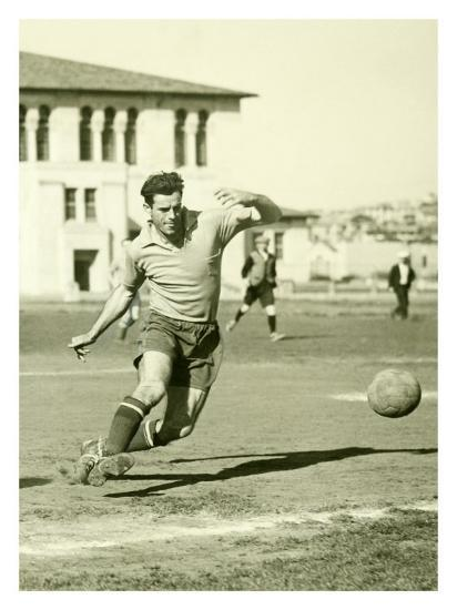 Swiss Ac Rovers Soccer Player Poster-Photo Archive Underwood-Giclee Print