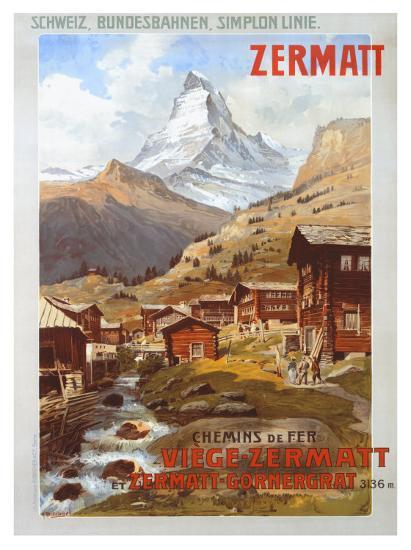 Swiss Alps, Zermatt Matterhorn-Anton Reckziegel-Giclee Print