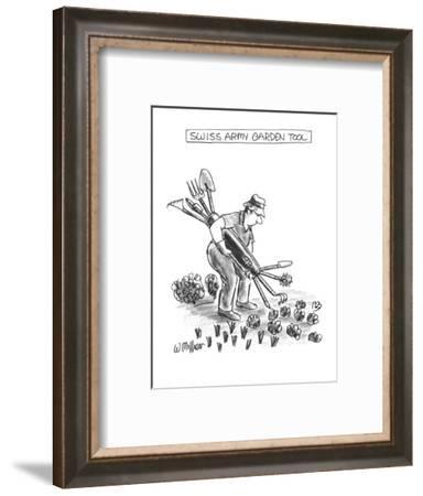 Swiss Army Garden Tool - New Yorker Cartoon-Warren Miller-Framed Premium Giclee Print