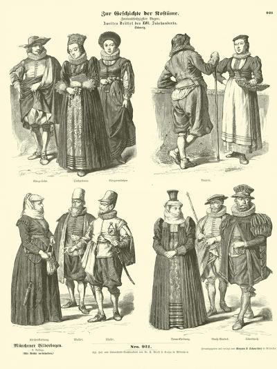 Swiss Costumes, Mid 17th Century--Giclee Print