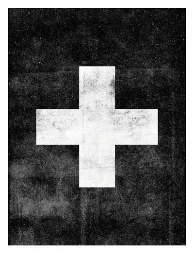 Swiss Cross on Black-Brett Wilson-Art Print