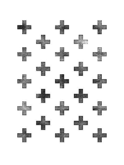 Swiss Cross Pattern on White-Brett Wilson-Art Print
