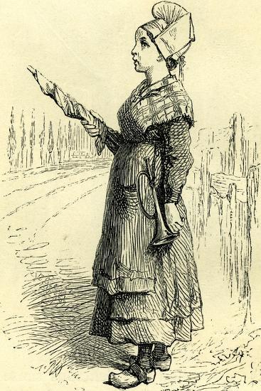 Swiss Lady Switzerland 19 C--Giclee Print
