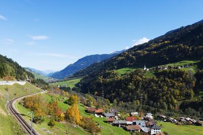 Swiss Railway, Autumn, Engadine, Graubunden, Switzerland, Europe-Christian Kober-Photographic Print