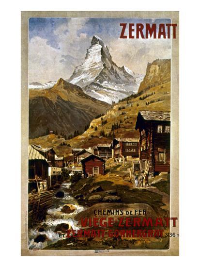 Swiss Travel Poster, 1898--Giclee Print