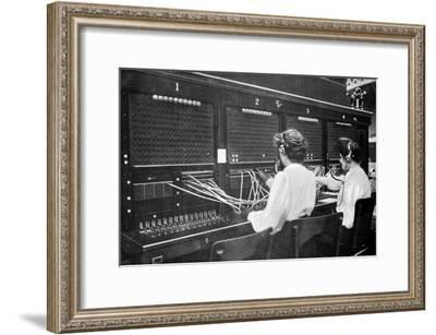 Switchboard Operators at Work, Early 20th Century--Framed Giclee Print