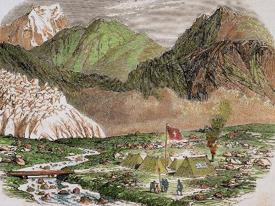 Switzerland, 19th Century, Camp of the Officials of Federal Swiss Major State at Furka--Giclee Print