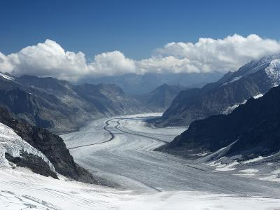 Switzerland, Bern Canton, Jungfraujoch, Aletsch Glacier-Jamie And Judy Wild-Photographic Print