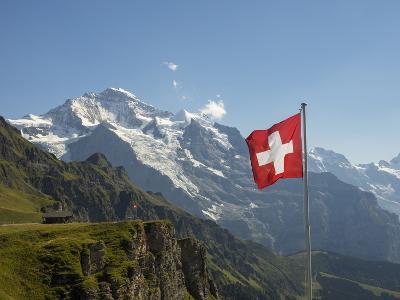 Switzerland, Bern Canton, Mannlichen, the Jungfrau-Jamie And Judy Wild-Photographic Print