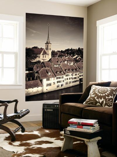 Switzerland, Bern, Old Town (Unesco World Heritage Site) and Aare River-Michele Falzone-Wall Mural