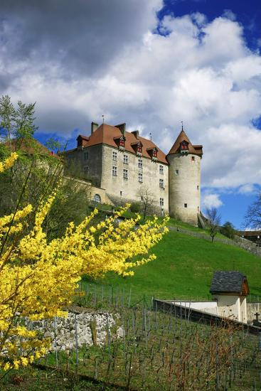 Switzerland, 'Chateau De Gruy?res' in the Swiss Canton Fribourg on a Sunny Spring Day-Uwe Steffens-Photographic Print