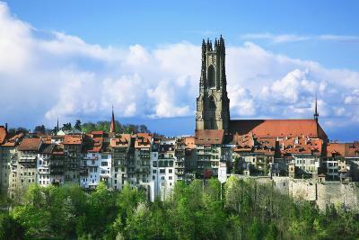 Switzerland, Fribourg on the Sarine River-Uwe Steffens-Photographic Print