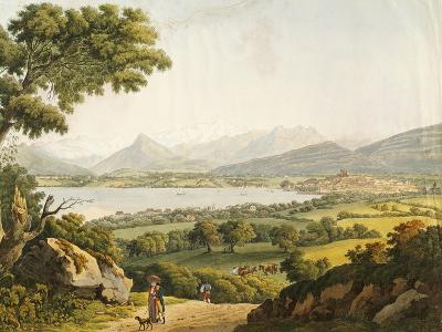 Switzerland, Geneva, View of Geneva Lake and the Mont Blanc--Giclee Print